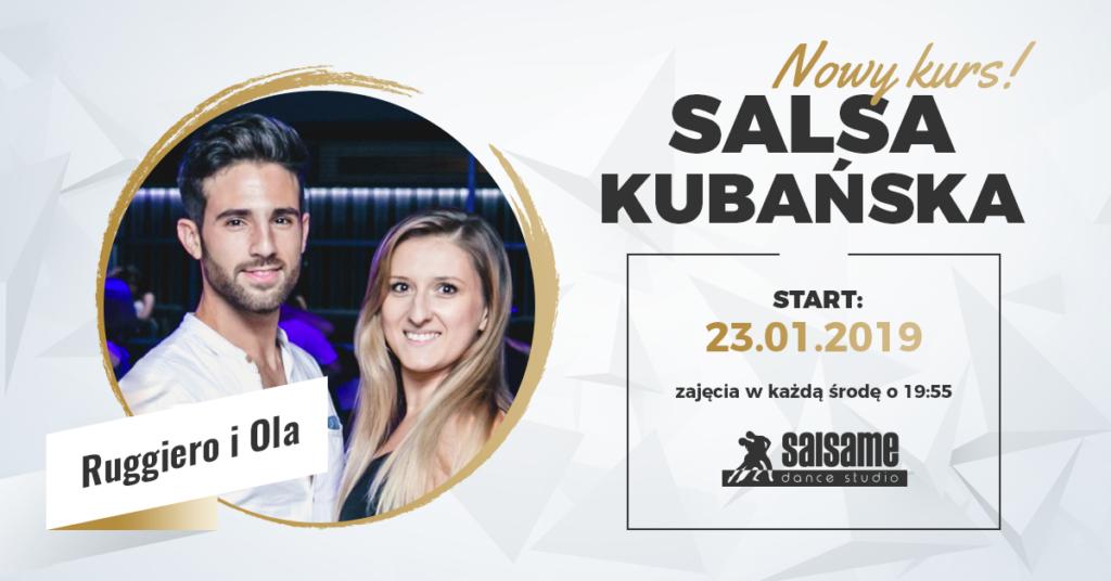 Salsa kubańska OPEN level z Ruggiero i Olą w SALSAme od 23.01.2019