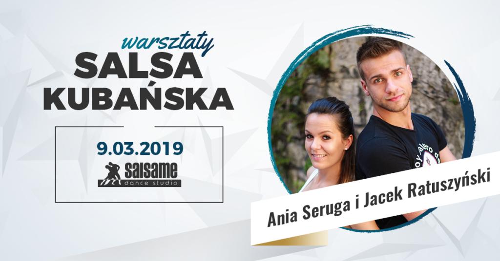 Warsztaty salsy kubańskiej z Jackiem i Anią w SALSAme 9.03.2019