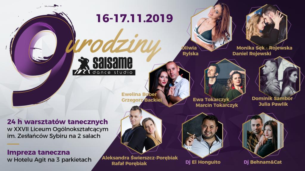 9 Urodziny SALSAme Dance Studio | 16-17.11.2019 Lublin
